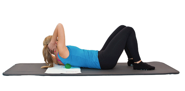 La spiky ball aiuta a sciogliere i muscoli contratti