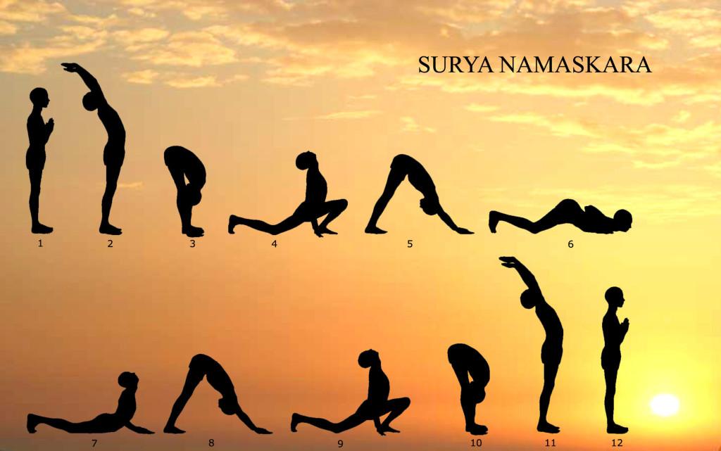 Surya Namaskara o il Saluto al Sole per celebrare il solstizio d'inverno