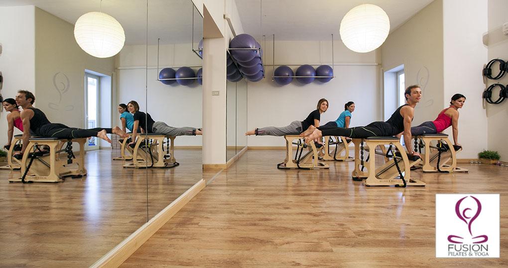 La chair è una delle macchine di Pilates utilizzata anche per le lezioni di gruppo