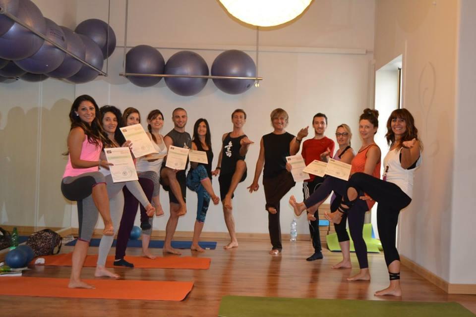 I partecipanti al primo corso di formazione Odaka Yoga in Sicilia
